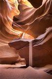 Sand Pours Through Antelope Canyon
