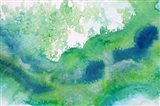 Green Waves Watercolor Abstract Splash 1