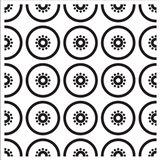 Composizione Con Fette Di Kiwi In Bianco E Nero