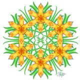 Yellow Day Lily Mandala