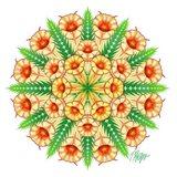 Cream Trumpet Flower Mandala