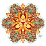 Tiger Lily Sphinx Mandala