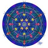 Firefly Moon Mandala