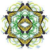 Goldenrod Swallowtail Mandala
