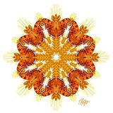 Comma Butterfly Wheat Mandala