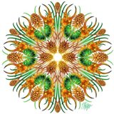 Pine Unicorn Beetle Mandala