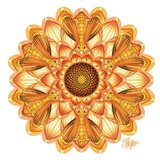 Yellow Dahlia Skipper Butterfly Mandala