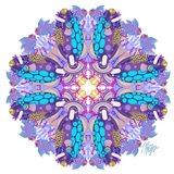 Purple Clown Triggerfish Coral Reef Mandala