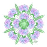 Transparent Flower Mandala