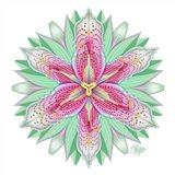 Pink Tiger Lily Mandala
