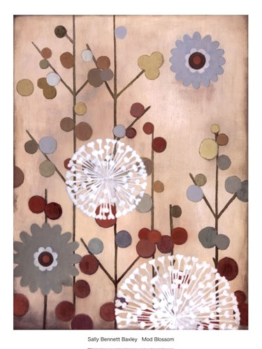 MOD BLOSSOM Poster by Sally Bennett Baxley for $32.50 CAD
