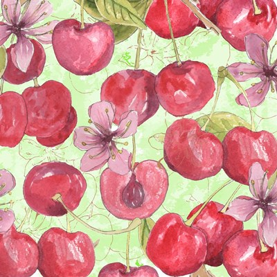 Cherry Medley II Poster by Leslie Mark for $32.50 CAD