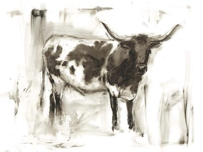 Longhorn Study I Poster by Ethan Harper for $63.75 CAD