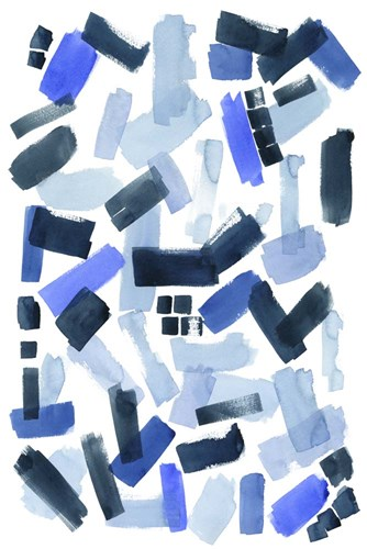 Cerulean Strokes I Poster by Grace Popp for $42.50 CAD