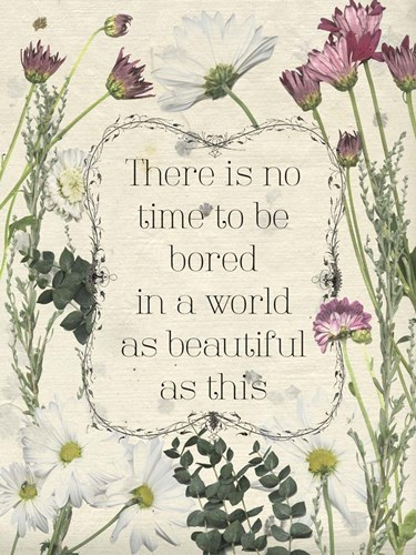 Pressed Floral Quote I Poster by Grace Popp for $38.75 CAD