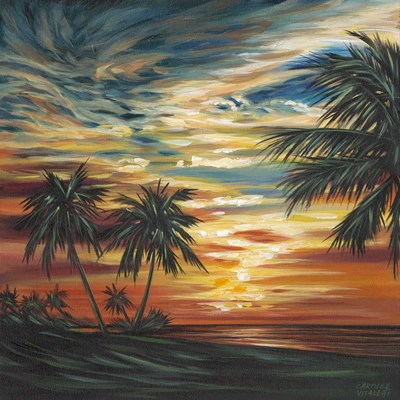 Stunning Tropical Sunset I Poster by Carolee Vitaletti for $53.75 CAD