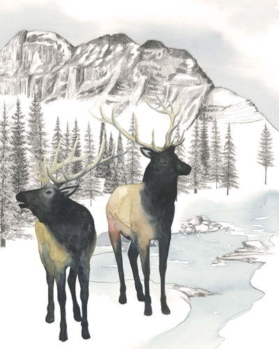 Winter Elk II Poster by Grace Popp for $53.75 CAD
