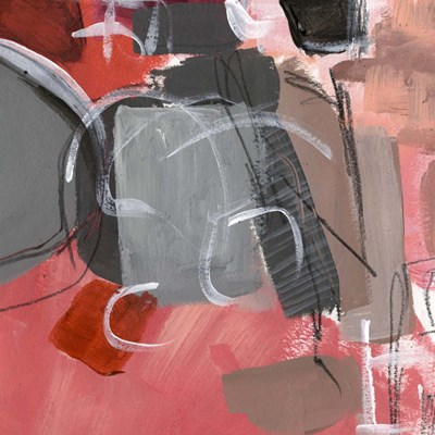 Red & Gray Abstract II Poster by Jennifer Parker for $32.50 CAD