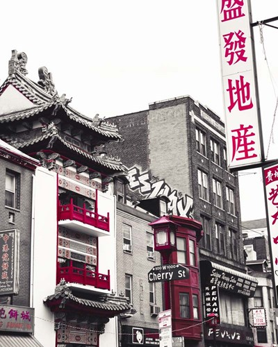 Chinatown Reds I Poster by Sonja Quintero for $53.75 CAD