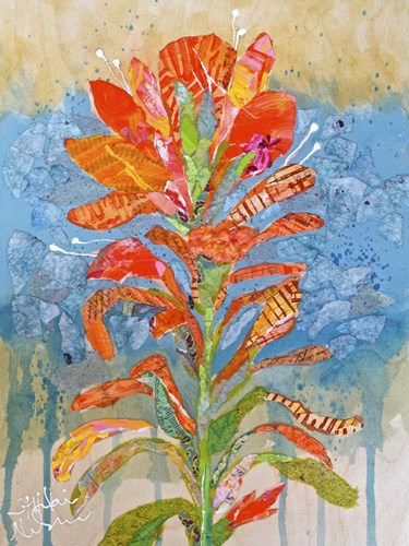 Indian Paintbrush Collage I Poster by Elizabeth St. Hilaire for $63.75 CAD