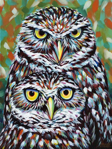 Fury Feather Friends I Poster by Carolee Vitaletti for $38.75 CAD