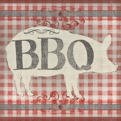 Gingham BBQ I Poster by June Erica Vess for $32.50 CAD