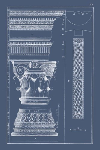 Column & Cornice Blueprint I Poster by Vision Studio for $42.50 CAD