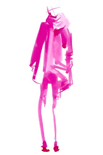 Fuchsia Street Fashion III Poster by Jennifer Parker for $42.50 CAD
