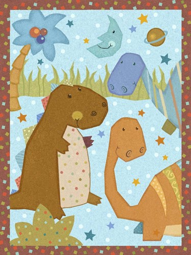 Dino Friends II Poster by Vivian Eisner for $38.75 CAD