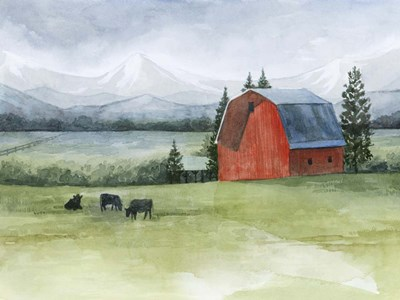 Valley Herd I Poster by Grace Popp for $38.75 CAD