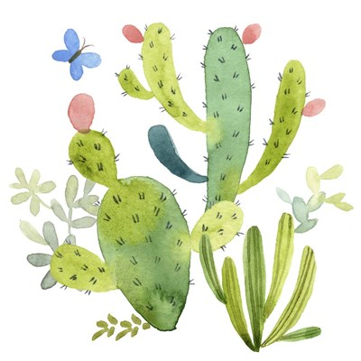 Happy Cactus II Poster by Jane Maday for $53.75 CAD