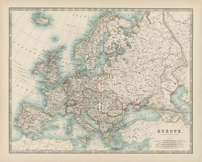 Map of Europe Poster by Walt Johnston for $53.75 CAD