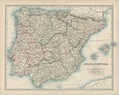 Map of Spain & Portugal Poster by Walt Johnston for $53.75 CAD