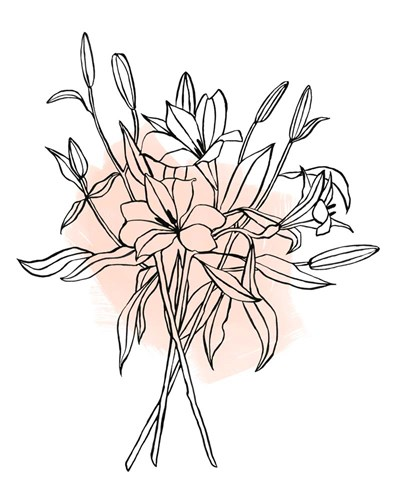 Lilies on Pink II Poster by Emma Scarvey for $53.75 CAD