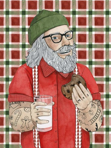 Hipster Santa I Poster by Grace Popp for $38.75 CAD
