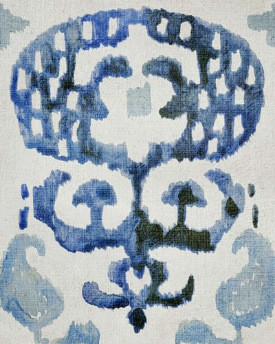 Sapphire Ikat I Poster by Chariklia Zarris for $53.75 CAD