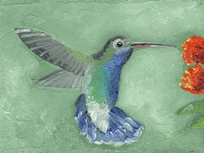 Fresco Hummingbird I Poster by Alicia Ludwig for $38.75 CAD