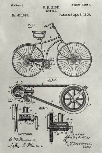 Patent--Bicycle Poster by Alicia Ludwig for $42.50 CAD