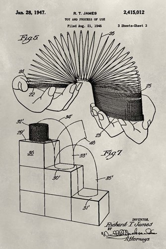 Patent--Slinky Poster by Alicia Ludwig for $42.50 CAD