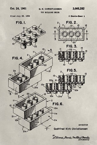 Patent--Lego Poster by Alicia Ludwig for $42.50 CAD