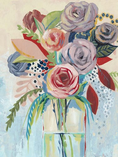 Roseate Posy I Poster by Grace Popp for $38.75 CAD