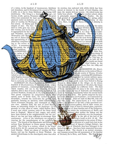 Flying Teapot 3 Blue and Yellow Poster by Fab Funky for $38.75 CAD
