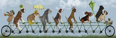 Mutley Crew on Tandem Poster by Fab Funky for $63.75 CAD