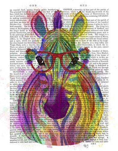 Zebra Rainbow Splash 1 Poster by Fab Funky for $33.75 CAD