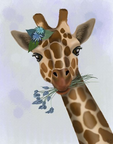 Chewing Giraffe 1 Poster by Fab Funky for $33.75 CAD