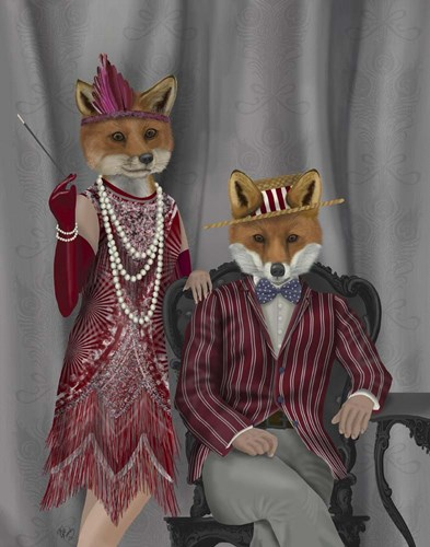 Fox Couple 1920s Poster by Fab Funky for $33.75 CAD
