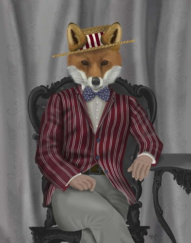 Fox 1920s Gentleman Poster by Fab Funky for $33.75 CAD
