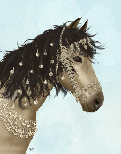 Horse Buckskin with Jewelled Bridle Poster by Fab Funky for $33.75 CAD