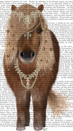 Horse Brown Pony with Bells, Full Poster by Fab Funky for $37.50 CAD