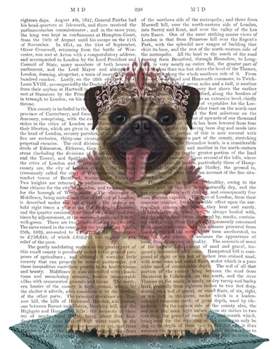 Pug Princess On Cushion Poster by Fab Funky for $33.75 CAD